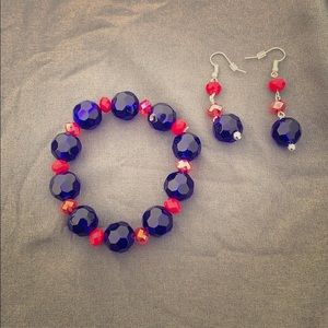 Giants-Colored Bracelet and Earring Set